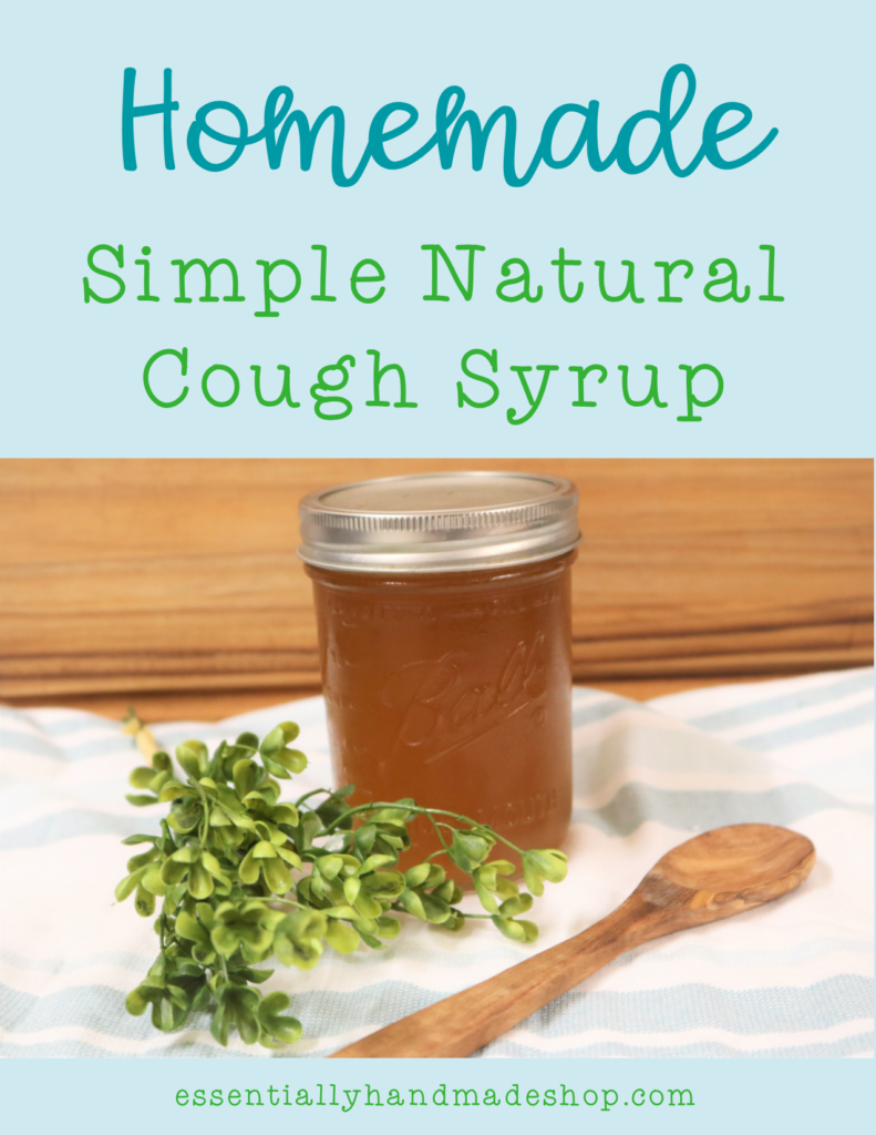 Homemade Simple natural cough syrup pin
