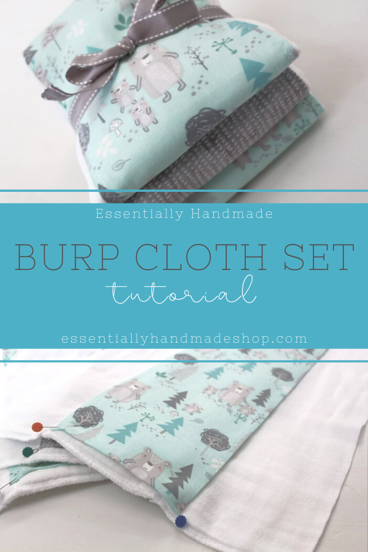 Baby Burp Cloth Set - Essentially Handmade