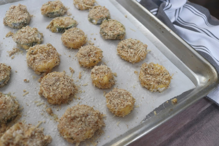 Simple Baked Breaded Zucchini Bites