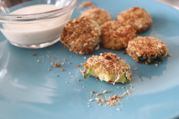 Simple Baked Breaded Zucchini Bites Essentially Handmade