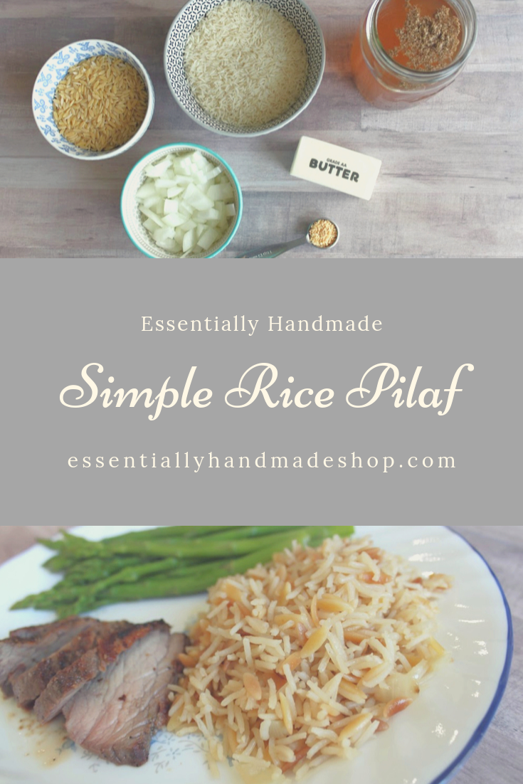 Rice Pilaf Pinterest Graphic